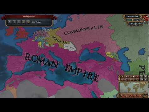 Savoy/Sardinia-Piedmont/Italy/Roman Empire Timelapse EU4