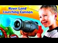 Disney Never Land Cannon VS Angry Birds Piggies Hatching Surprise Eggs Thomas Jake Batman FluffyJet