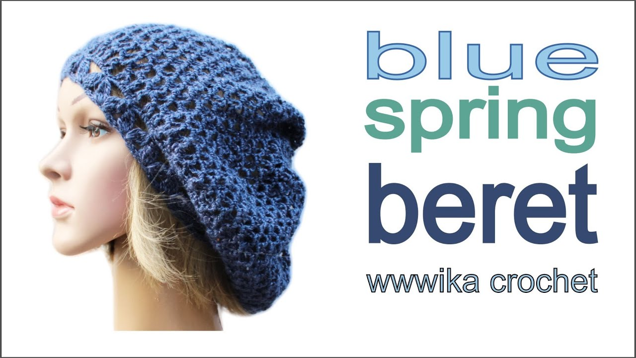 How to crochet spring beret hat free pattern tutorial by WIKA ...