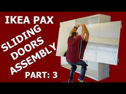 Ikea Pax Wardrobe Sliding Doors Assembly Part 3 Youtube