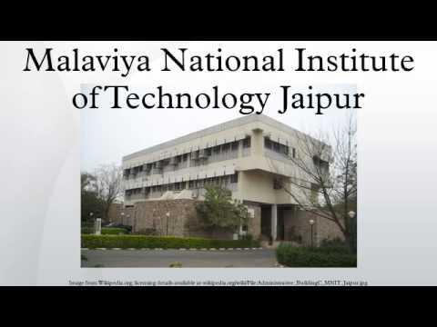 Malaviya National Institute of Technology Jaipur
