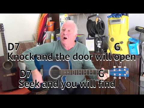 Welcome To My World - Jim Reeves cover - easy chords guitar lesson - on-screen chords and lyrics