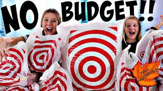NO BUDGET CHALLENGE AT TARGET || FALL FAVORITES 2018 || Taylor and Vanessa