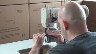 Ramenový stroj s trojím podáváním,vhodný pro šití čalounění a kůže