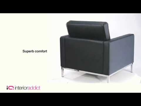 Florence Knoll Style Arm Chair   YouTube