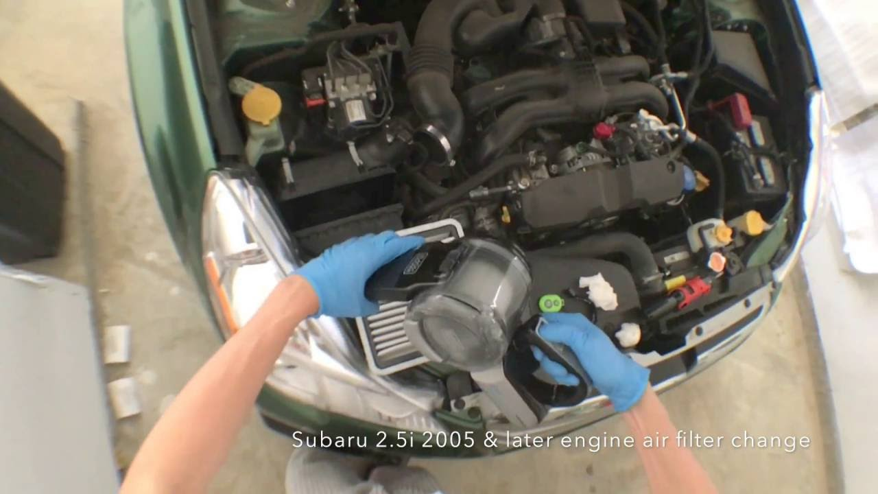 Subaru 25i Engine Air Filter Change 1 Min Job Youtube Legacy Fuel Location