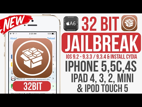Jailbreak 32bit IOS 9.2 - 9.3.3 / 9.3.4 IPhone 5, 5c, 4s iPad 4, 3, 2, Mini & iPod touch 5