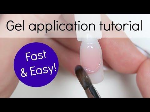 Gel Nail Application Step by Step Tutorial