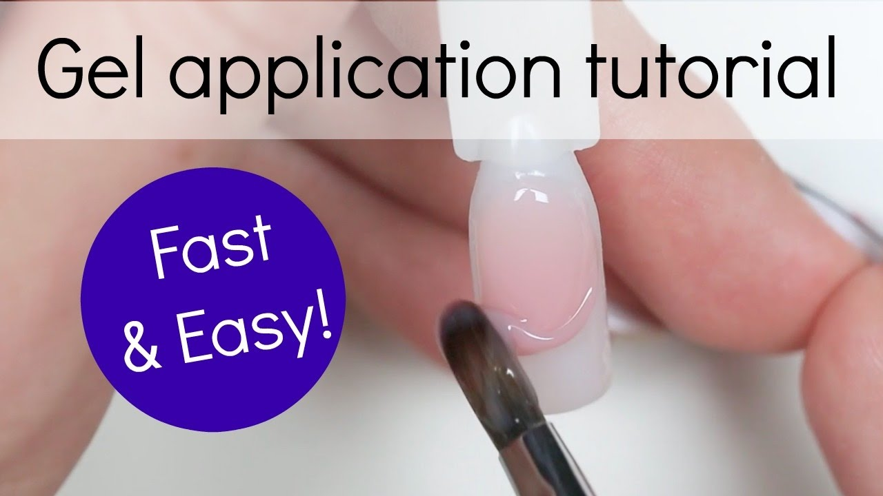 How to - Gel nail Application tutorial | Step by step - YouTube