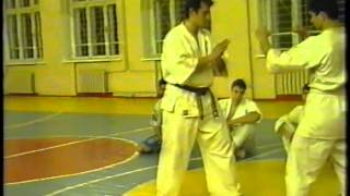 Kyokushin trening in tournament 1998 year2