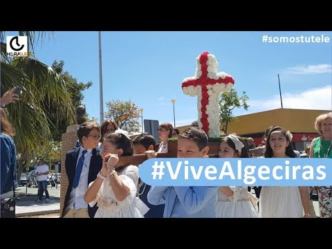 🎥 #VIVEALGECIRAS Presentación del boceto de la imagen de Jesús Coronado y Cruz de Mayo en San García