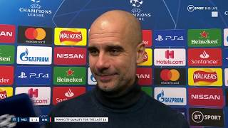 Pep Gurdiola gives his thoughts as Man City draw against Shakhtar but qualify for the last 16