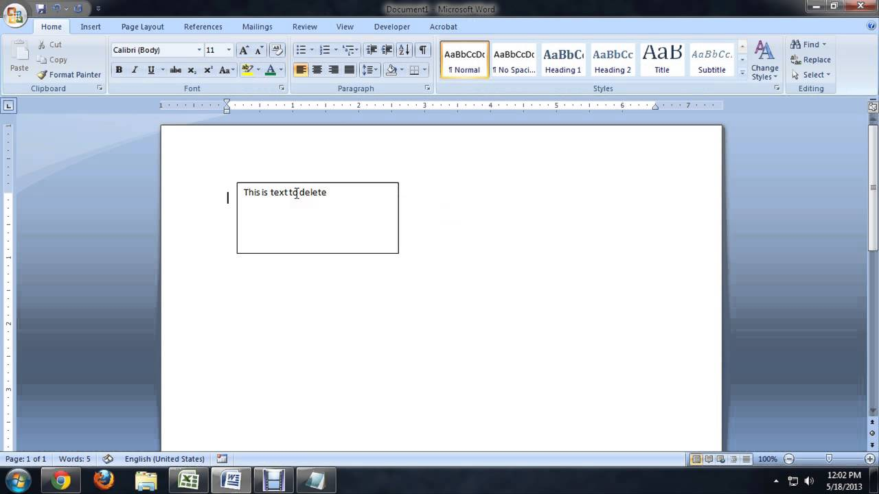 How to delete a text box in microsoft word tech niche youtube ccuart Images