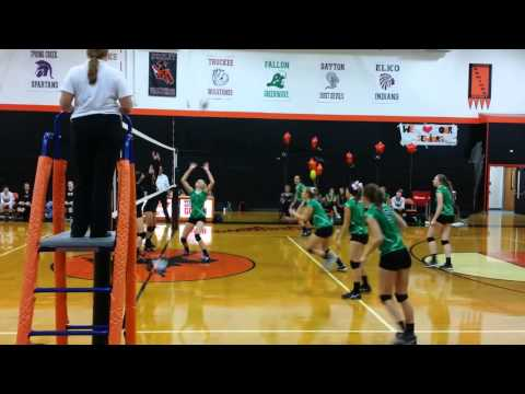 Kristyn Arvizo 8 Green right side Fallon Volleyball
