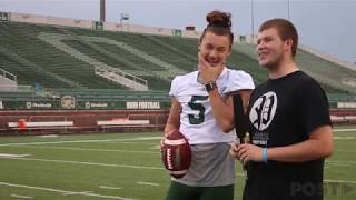 Ohio Punter Michael Farkas teaches The Post how to Punt