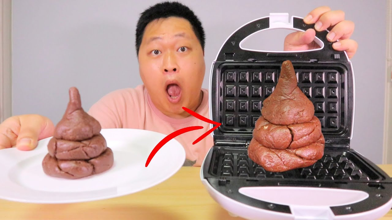 [bogil] 와플기계에 ㄸ을 찍어보았다 waffle mukbang