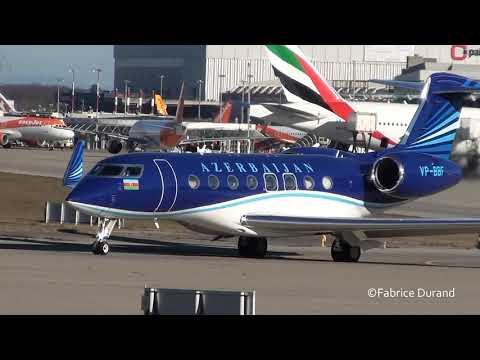 Azerbaijan - Government  Gulftream G650 take off at Geneva Airport [GVA-LSGG]