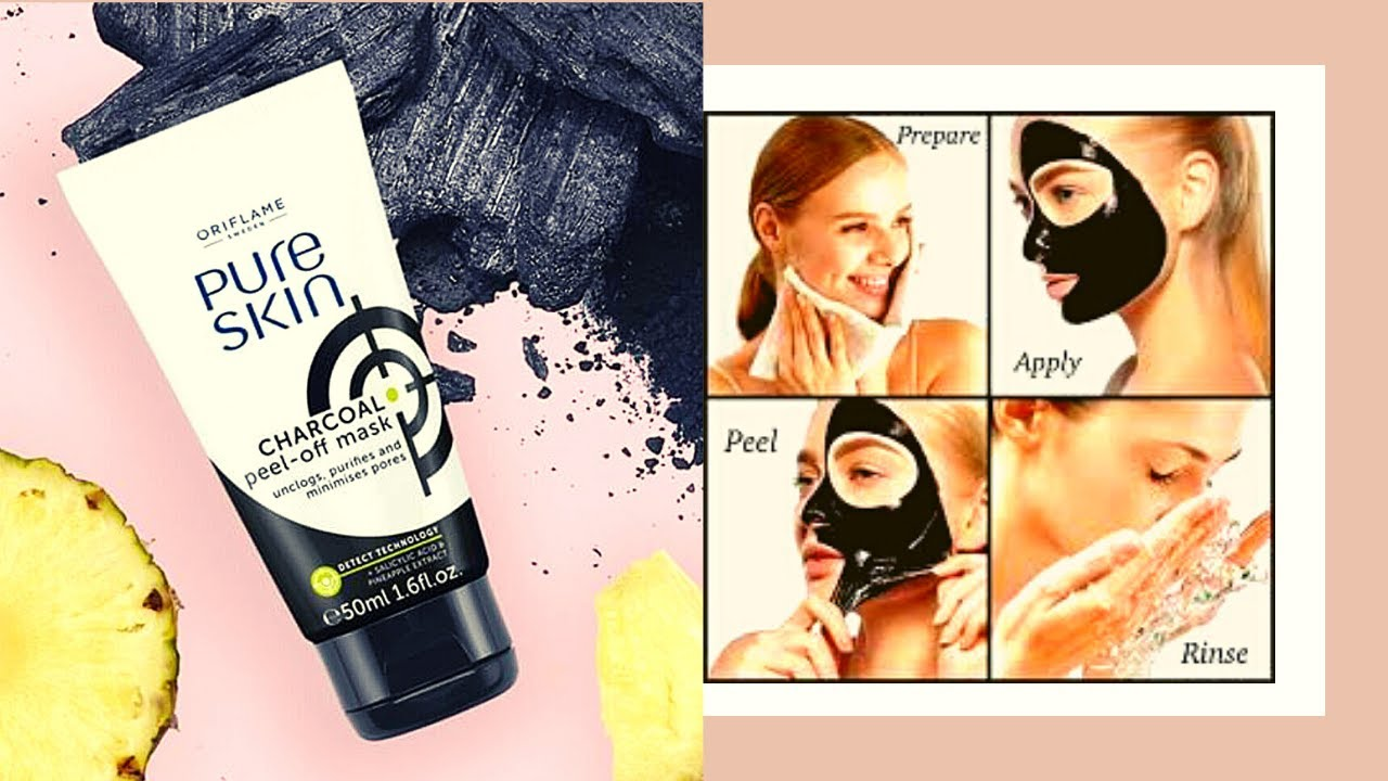 Pure Skin Charcoal Peel Off Mask 34872 Review Flawless Skin No More Blackheads Oriflame Products Youtube