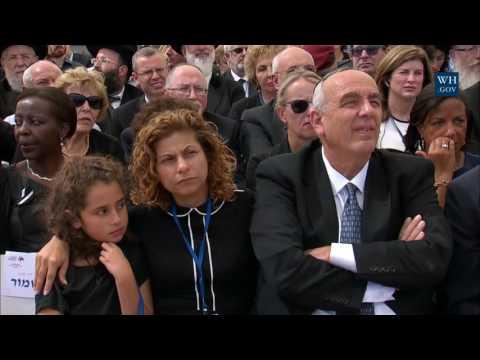 President Obama Attends The Memorial Service For Former Israeli President Shimon Peres