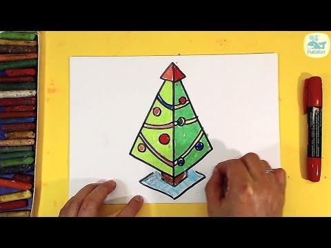 3Д ЁЛКА / Как нарисовать #3D рисунок на новый год Елочку