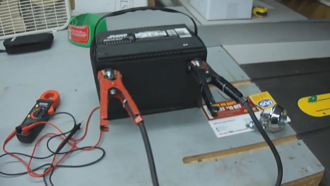 Resistance Demo With a Car Battery - 12v - YouTube
