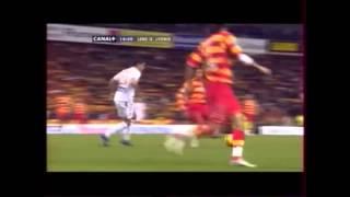 Action digne du Barça ou d'Arsenal + Reprise des chants : RC Lens - Lyon 2007
