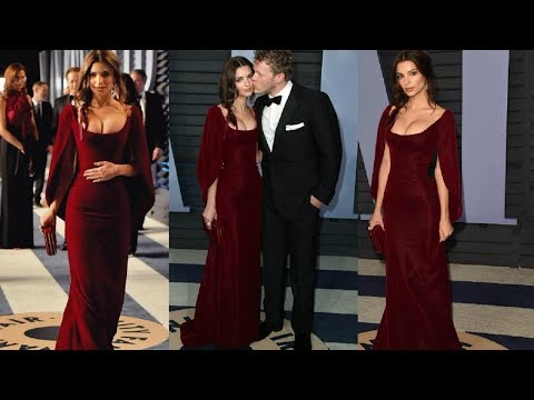 Emily Ratajkowski & Sebastian Bear-McClard At Vanity Fair Oscars Party 2018 | Oscars 2018