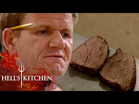 Gordon Ramsay CANNOT Handle Being Served Overcooked Beef | Hell's Kitchen