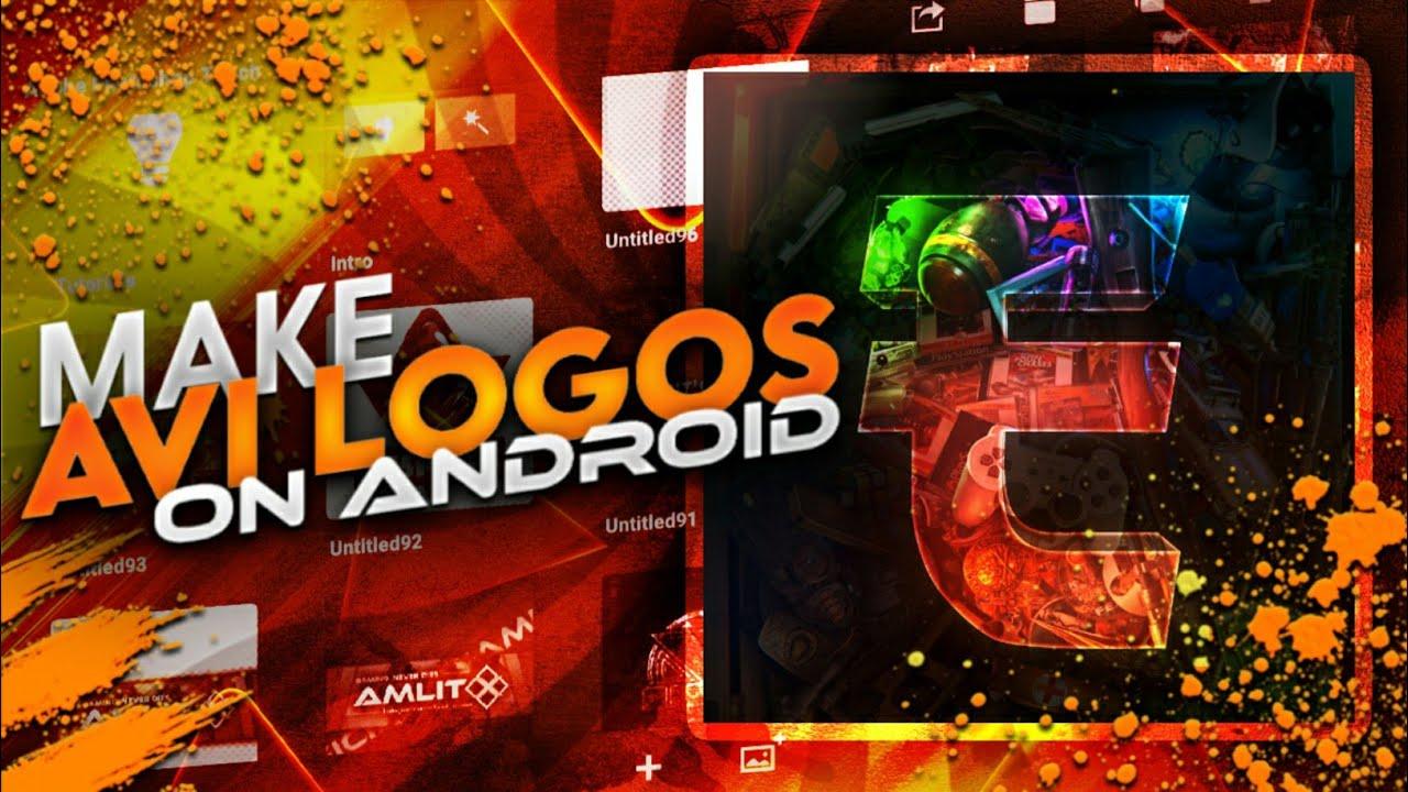How to make AVI logo | Make AVI logo on Android | in [HINDI].