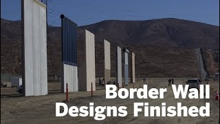 Wall Prototypes Finished And Up | San Diego Union-Tribune