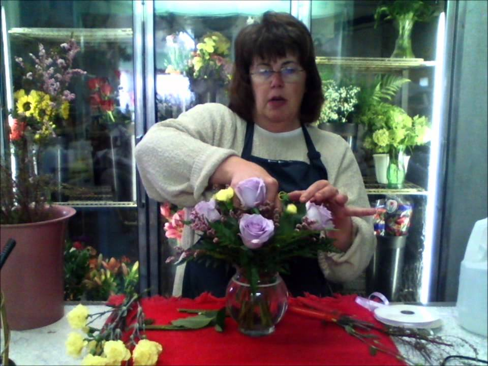 Diy Flower Time How To Make A Fresh Springy Arrangement In A Rose Bowl Youtube