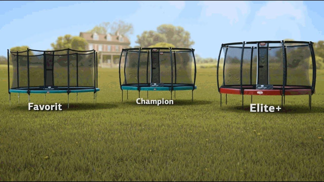 berg trampolin favorit champion oder elite bei trampolin youtube. Black Bedroom Furniture Sets. Home Design Ideas