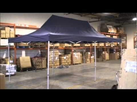Ez Up Canopy 10x20 >> Outdoor Escapes 10x20 Ez Up Party Tent Set Up