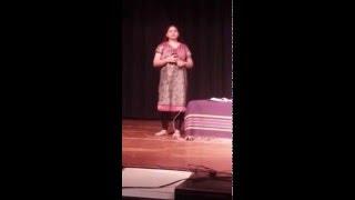 Bangle ke peeche.... Pankti Desai singing on karaoke 29th Dec 2015
