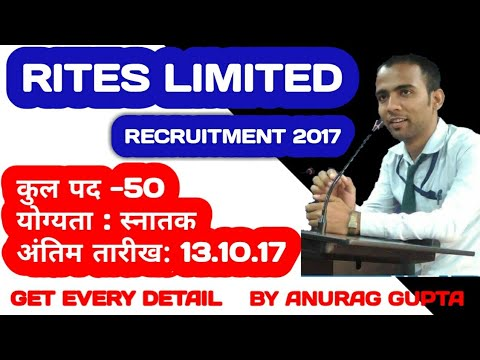 RITES Limited Recruitment 2017 | Engineers (Electrical and Mechanical) | Govt.Job | Apply Now