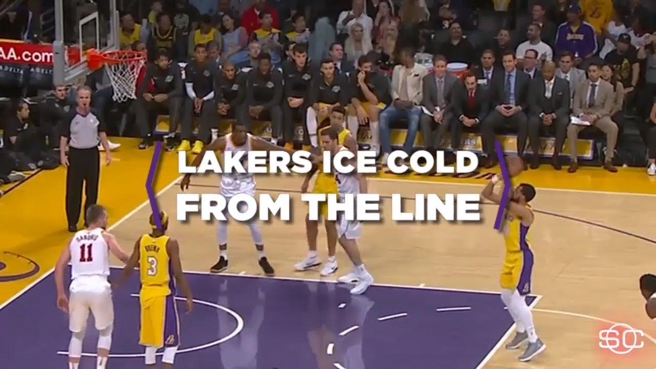 The Los Angeles Lakers go cold from the free-throw line  7b787c09c