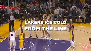 The Los Angeles Lakers go cold from the free-throw line | ESPN