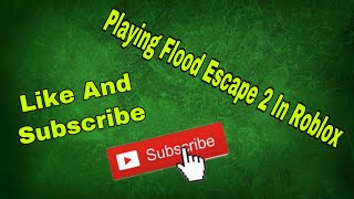 Playing Flood Escape 2 In Roblox (and trying to edit a video in KineMaster)