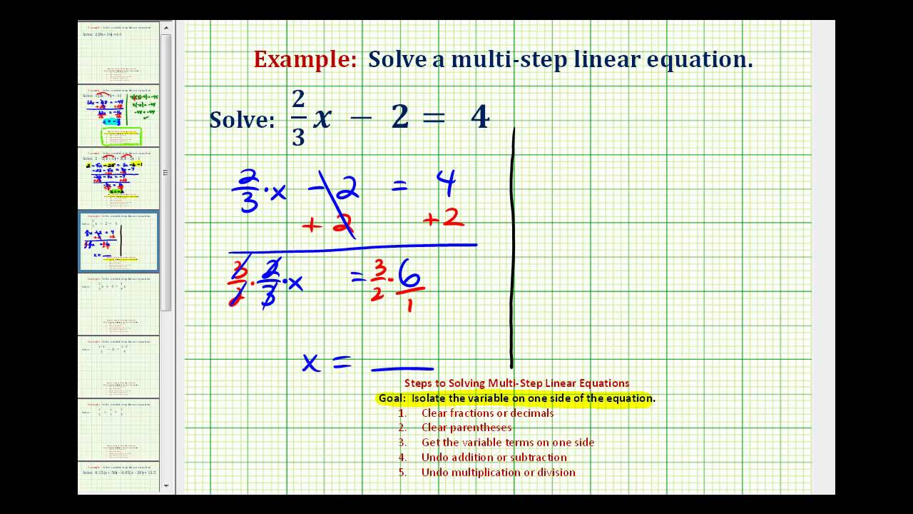 worksheet One Step Equations With Fractions ex solve a two step equation with fraction youtube fraction