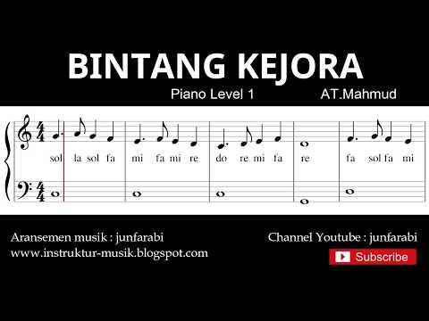 Notasi Balok Bintang Kejora - Tutorial Piano Grade 1 - Pencipta At.mahmud