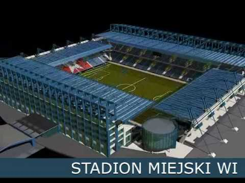 Euro-2012 Wisla Krakow Stadium visualization - YouTube