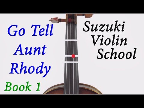 4. Go Tell Aunt Rhody - Suzuki Book 1 Violin Tutorial (Renee Spady violin) thumbnail