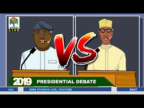 2019 Presidential Debate Buhari vs Atiku  Cartoon Animation
