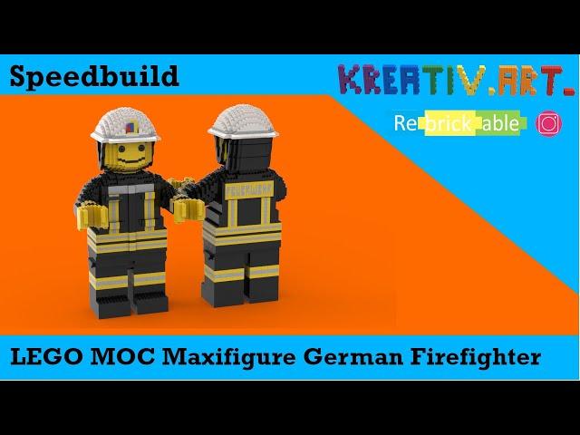 LEGO® MOC Maxifigure German Firefighter | Speedbuild