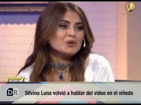 Silvina Luna se divierte al recordar su video hot en el viñedo