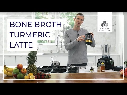 Turmeric Latte with Dr Josh Axe  Ancient Nutrition