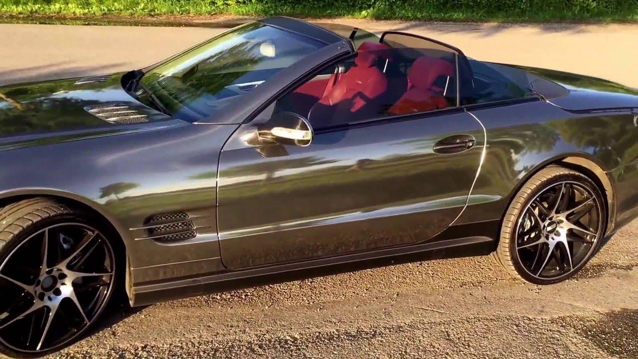 Mercedes Amg Mit Carwrapping Dark Chrome Folie Youtube