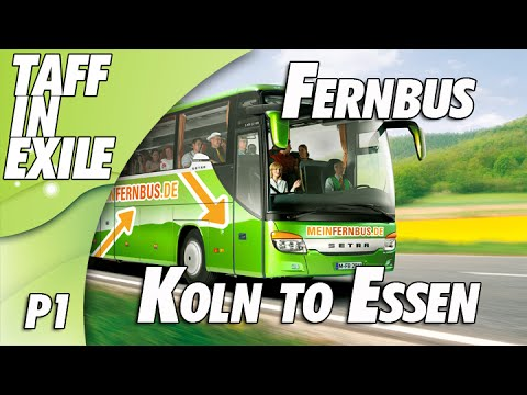 Fernbus Simulator - Multi Drop   Koln to Essen   Part 1