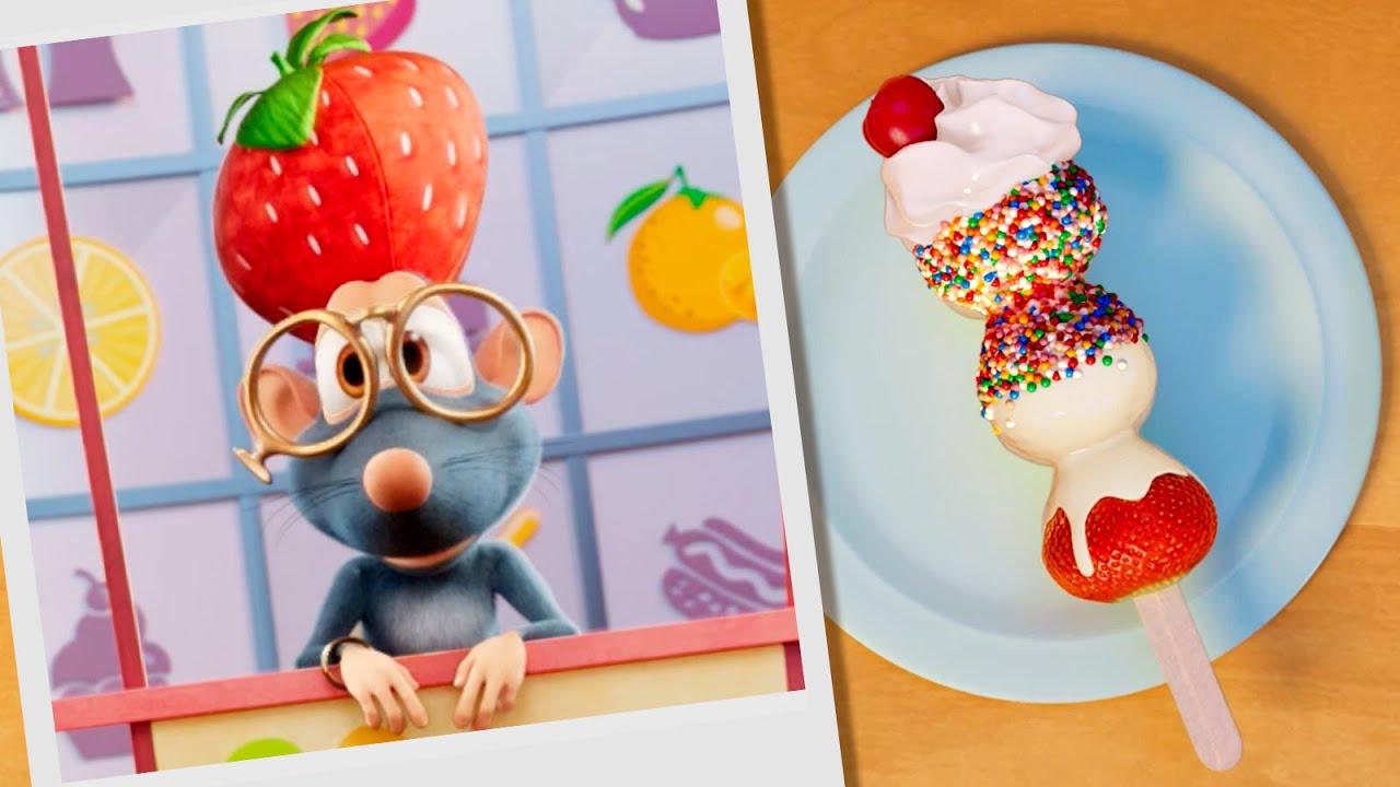 Буба 🍓🍌 Кулинарное шоу: Фрукты в шоколаде 🍫 Мультики для детей - Буба МультТВ