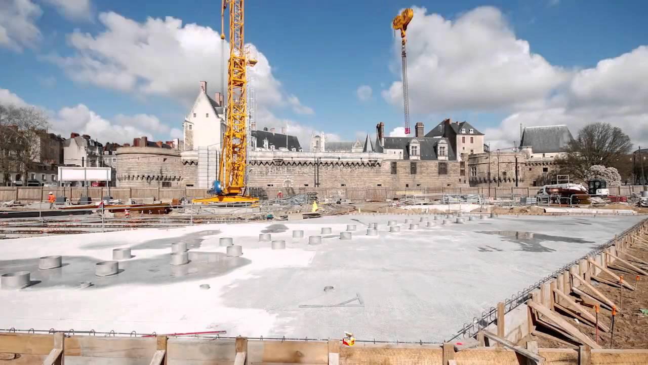 Le timelapse de la construction du miroir d 39 eau nantes for Miroir d eau nantes